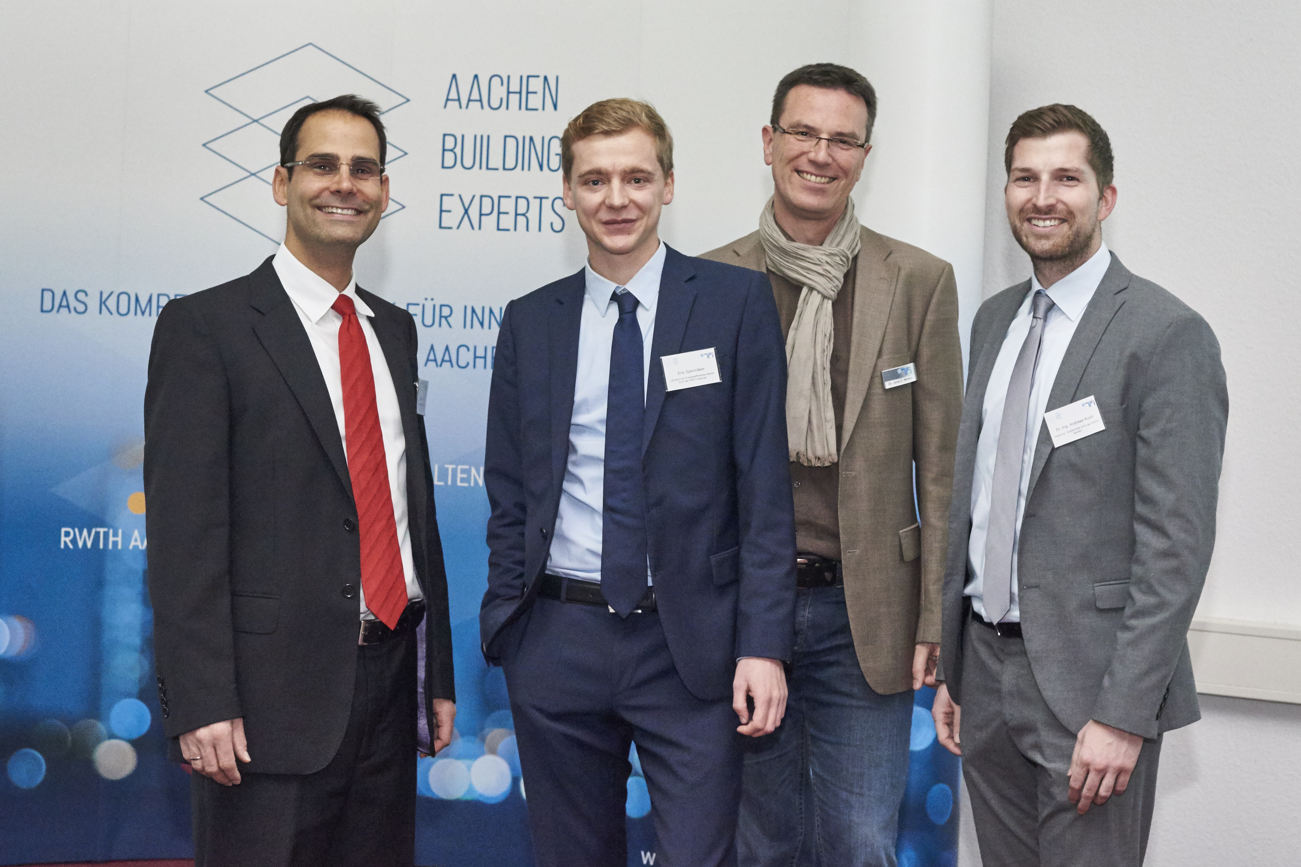 The Managing Director of AACHEN BUILDING EXPERTS e. V. with the speakers
