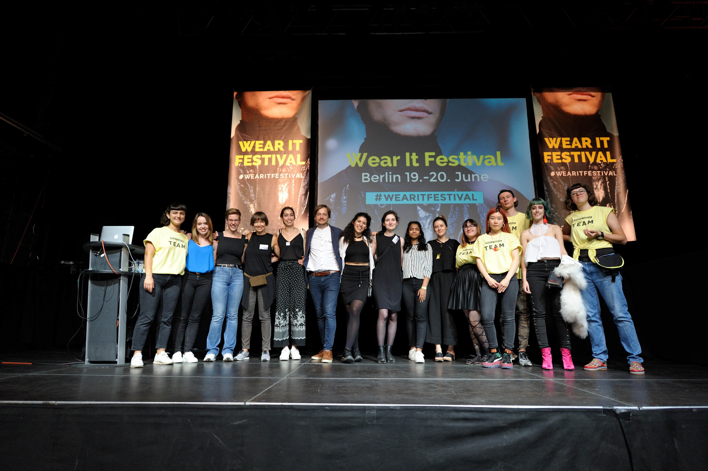 The Wear It team on the main stage of the fair